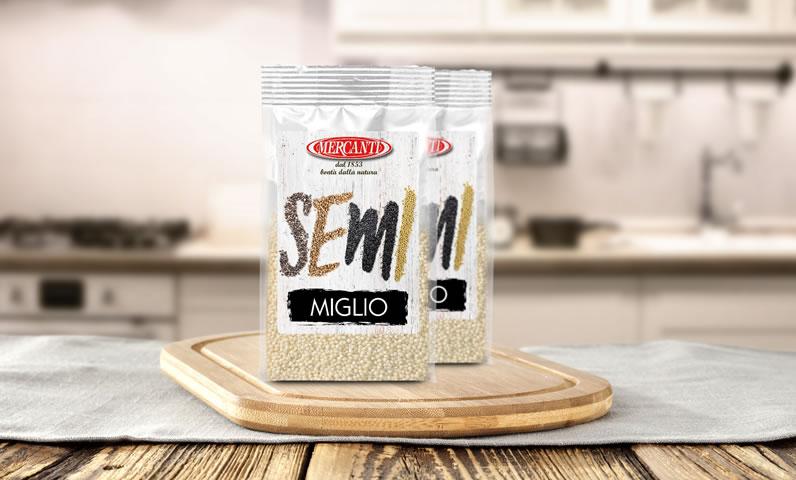 Millet seeds.